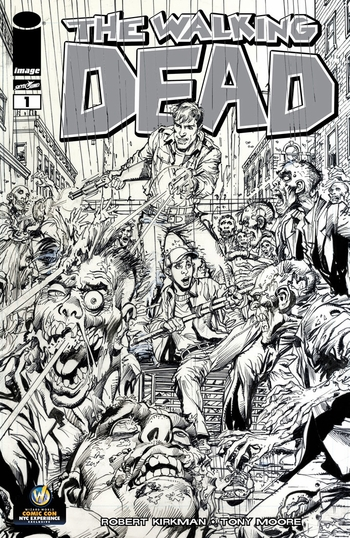 Walking Dead #1 NYC Comiccon edition, sketch variant by Neal Adams. Click for value