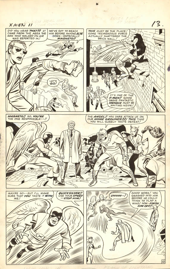 Story Page vs. Book Page Number – A number that signifies a comic art page's placement in a story. his X-Men page is from #11, and is the 13th page in the book, but the 10th story page.