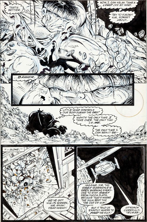The Amazing Spider-Man #328, Page 2 (featuring Hulk!). Sold for: $17,925. Click for Todd McFarlane original comic art values