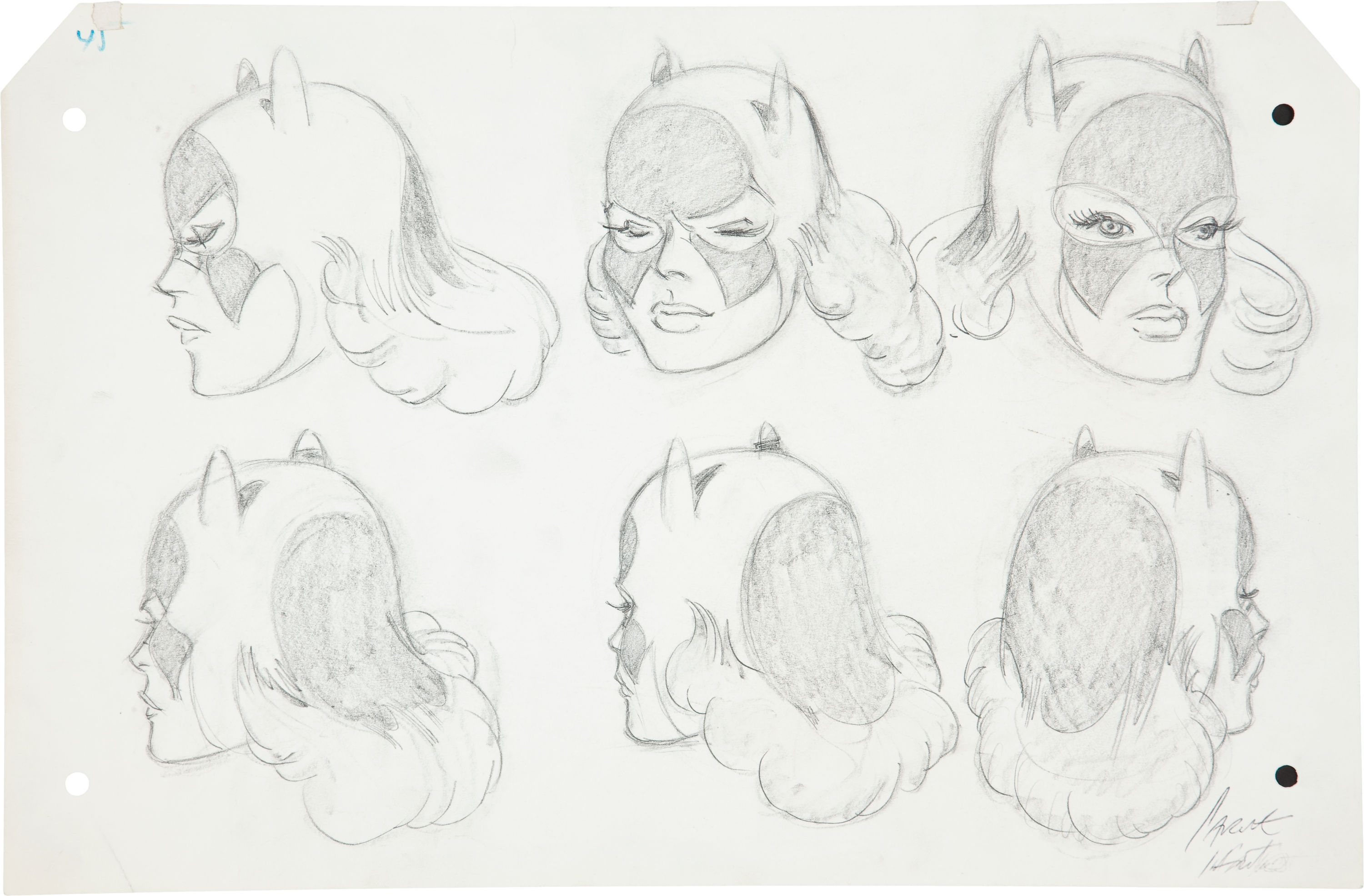 Silver Age Batgirl Concept Art by Carmine Infantino Sold for $523