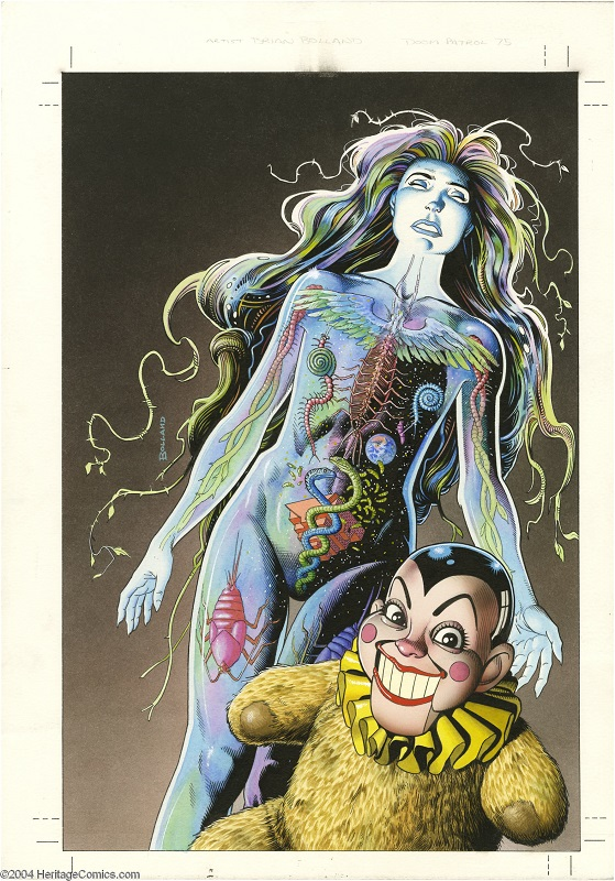 Original Cover Art Painting for Doom Patrol #75 by Brian Bolland Sold for $2,875