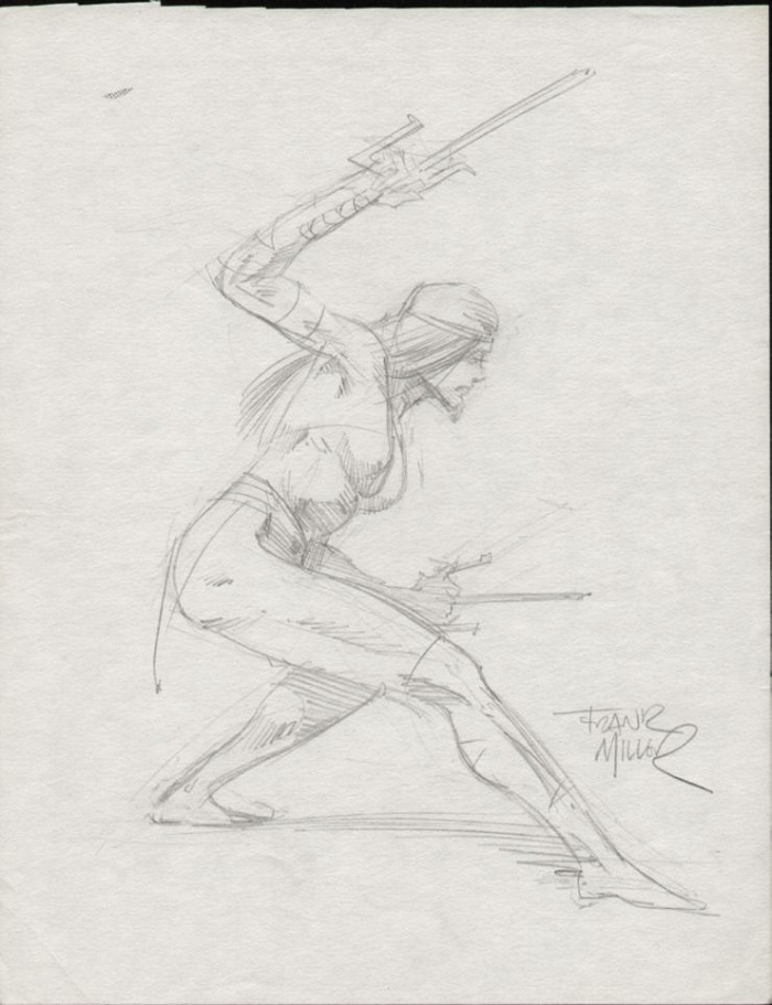 Elektra Commission by Frank Miller. Click for Frank Miller comic art prices