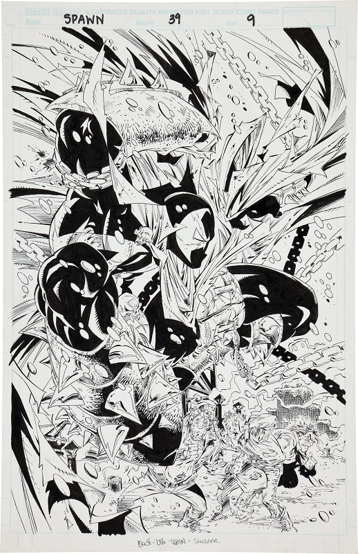 Spawn #39, Page 9. Sold for: $3,883. Click for values