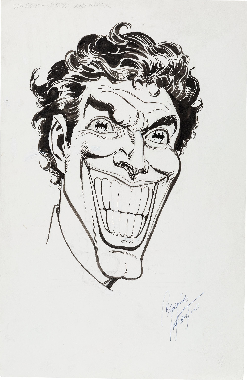 Sunsoft Joker Illustration Original Art by Carmine Infantino  Sold for: $836