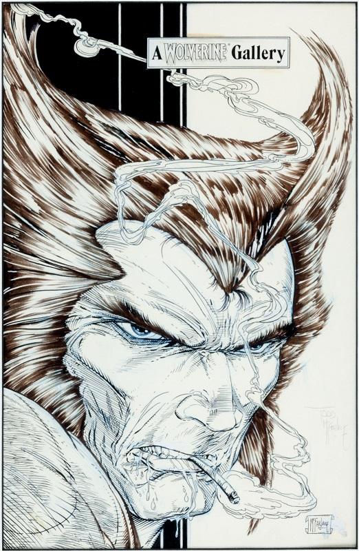 Back Cover Illustration for Wolverine #6  Sold For: $13,145  Click for McFarlane comic art values