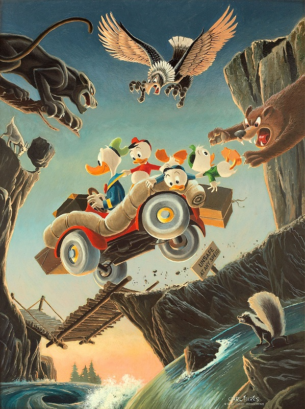 Vacation Panel Original Oil Painting by Carl Barks Sold for: $179,250