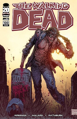 Walking Dead 100 variant cover by McFarlane. He also created very in-demand toys. Click for values