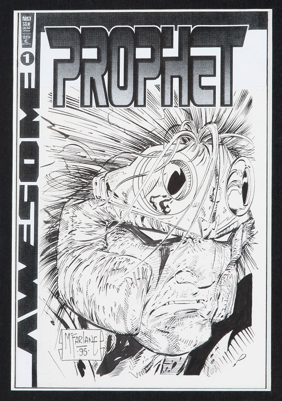 Alternate Cover for Prophet #1, by Todd McFarlane. Sold for: $746. Click for artwork values