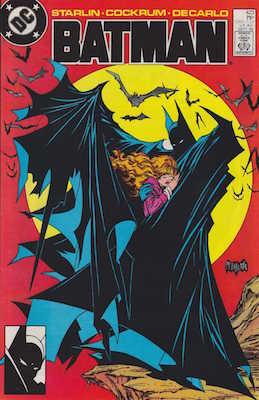 The classic Todd McFarlane cover of Batman #423. Click for values
