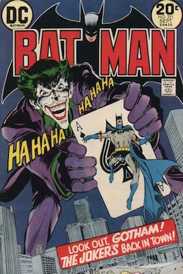 The Joker rendition by Neal Adams on Batman #251. Click for value