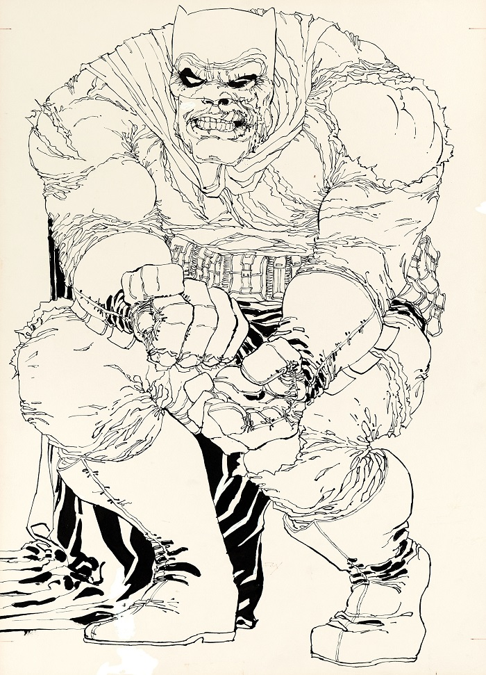 Sold For: $478,000: Original Cover Art for Batman: The Dark Knight Returns #2 by Frank Miller. Click for more artwork values