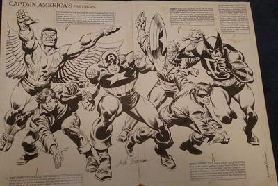 Captain America #350 Splash Page