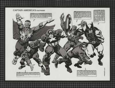 Captain America #350 Splash Page Acetate