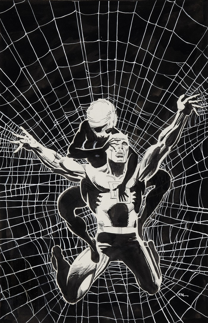 Sold For: $101,575: Original Cover Art for Daredevil #188 by Frank Miller. Click to see more values