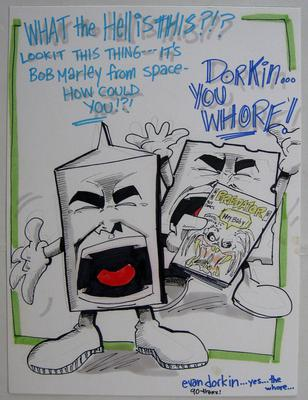 Evan Dorkin Art - Milk and Cheese