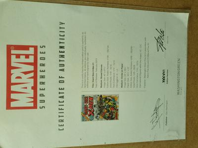 Giant-Size X-Men #1 canvas signed by Stan Lee