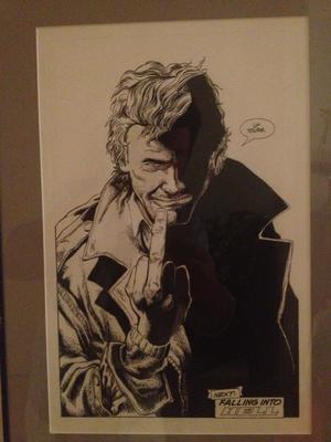 Hellblazer #45 p24 Original Art: Giving the Devil the Finger