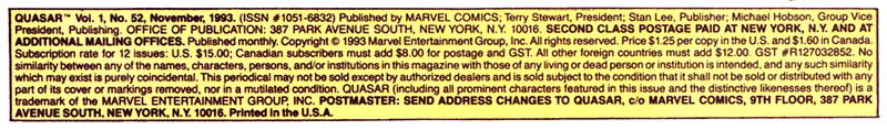 Indicia – A block of text that is included at the bottom of page 1 of a comic book. Relevant information included  in the indicia is book title, Issue number Volume, Date Published, Publisher.