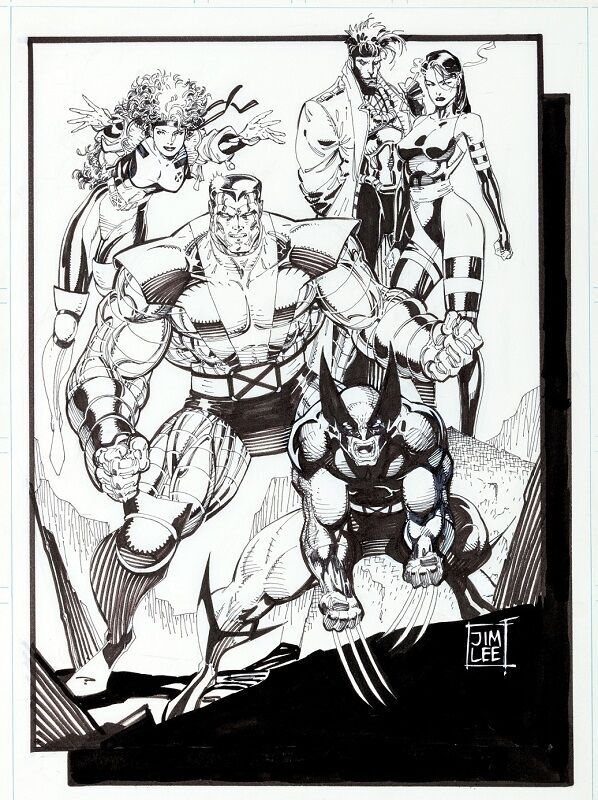 Original X-Men Pinup (1990)  Sold for: $41,825