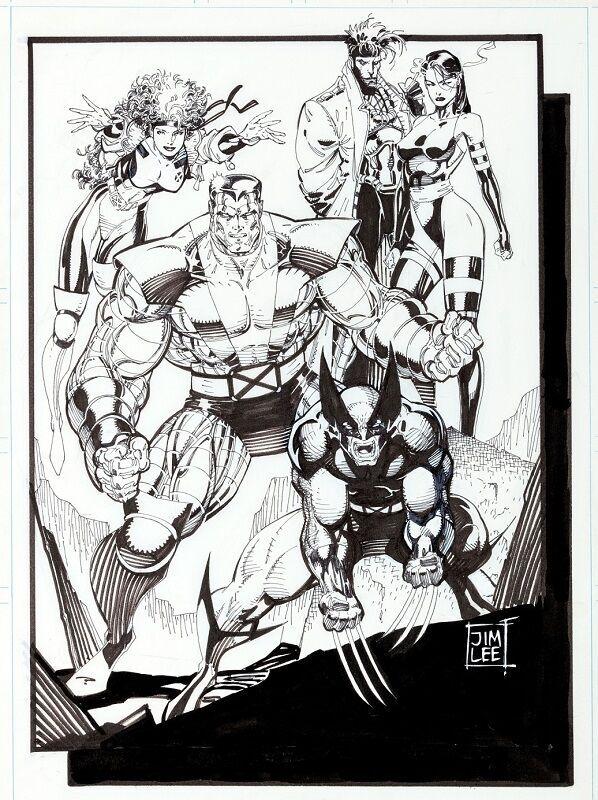 Original X-Men Pinup (1990)  Sold for: $41,825