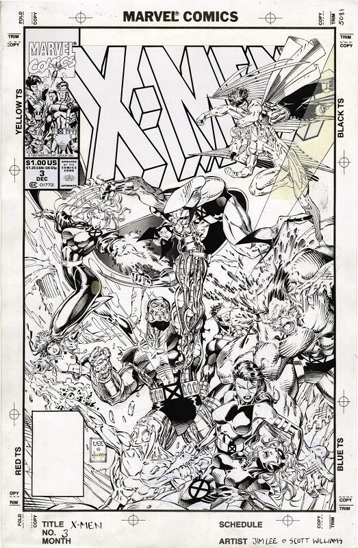 Cover art for X-Men #3  Sold for: $35,850