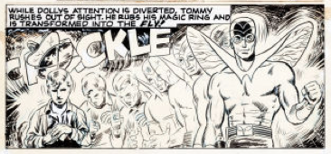 Neal Adams' panel from Adventures of the Fly #4. This is his first recognized commercial work.
