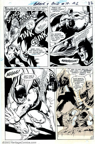 Brave and the Bold #79 page 22 by Neal Adams. Click to see value of Adams original artwork