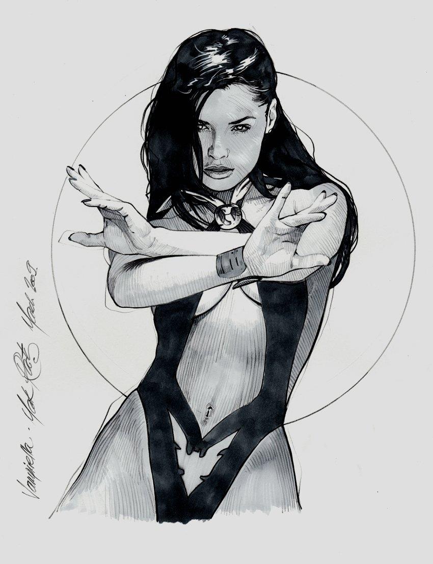 Vampirella pin-up original art piece