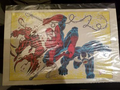 Randy Emberlin Sketch of Carnage, Spider-man, and Venom