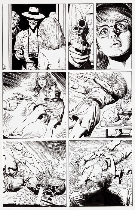 Original Art for Batman: The Killing Joke, Page 14 by Brian Bolland Sold for $107,550