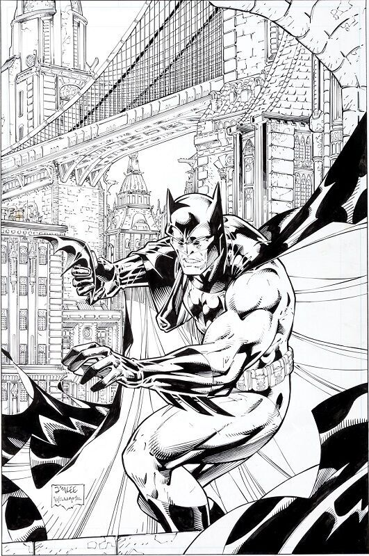 Cover art for Batman Black and White #1  Sold for: $38,837