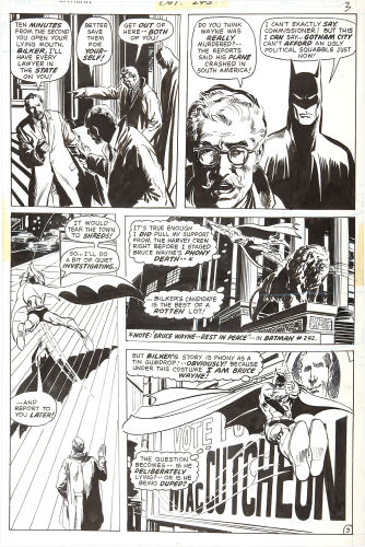 Batman #244 page 3 original artwork by Neal Adams. Click to see value of Adams art