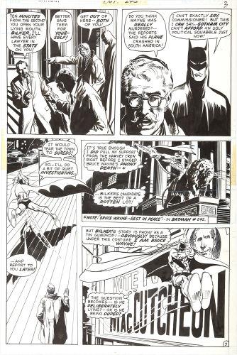Batman #244 page 3 original artwork by Neal Adams. Click to see value of Adams art