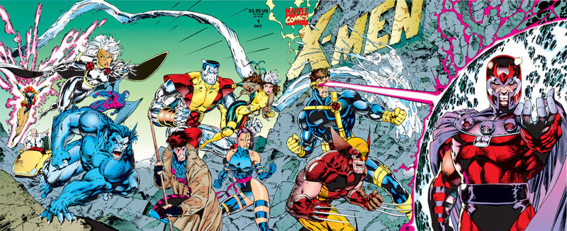 Stunning wraparound cover image from X-Men 1990 #1. Click for values